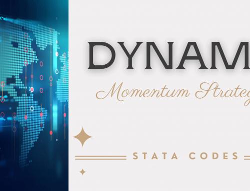 Stata Codes for Dynamic Momentum Strategy | Avoiding Market Crash Risk